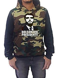 Blusa Moletom Camuflada Mista Bolsonaro Presidente