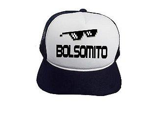 Boné Trucker Preto Óculos Bolsomito