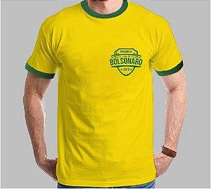 Camiseta do Brasil brasão Bolsonaro