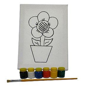 Kit Pintura Flor no Vaso MLP01 - Mundo Ludico