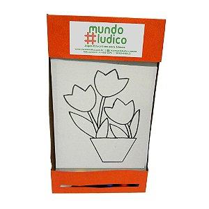 Kit Pintura Tulipas no Vaso MLP02 - Mundo Ludico
