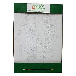 Kit Pintura Avançado Clássicos Paisagem com Touro MLPA3001 - Mundo Ludico