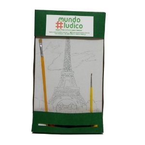 Kit Pintura Avançado Lugares do Mundo Torre Eiffel MLPA2401 - Mundo Ludico
