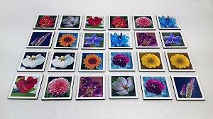 Jogo Memória Sênior Flores 24 pçs MLM2405 1 Jogo 12 atividades Mundo Lúdico