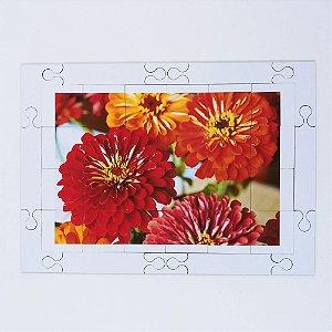 Quebra cabeça Sênior Flores Coloridas 24 pçs Mundo Lúdico MLQ240