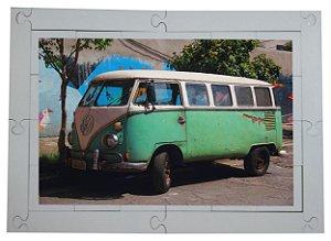 Quebra cabeça Perua 'Anos 70' 24 pçs Transportes MLQ2407 - 1 Jogos + 4 Atividades