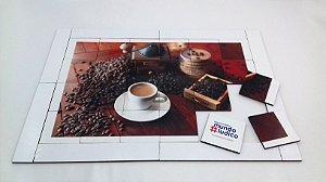 Quebra cabeça Sênior Café com Moinho 24 pçs MLQ2421 1 jogo 4 atividades Mundo Lúdico