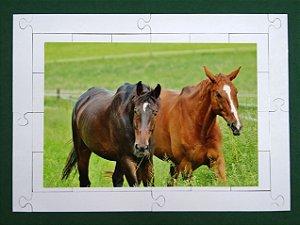 Quebra cabeça Cavalos 24 pçs Animais MLQ2428 - 1 Jogo + 4 Atividades