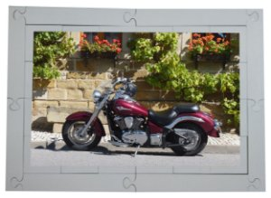 Quebra cabeça Moto Sem Destino 24 pçs Transportes MLQ2429 - 1 Jogo + 4 Atividades