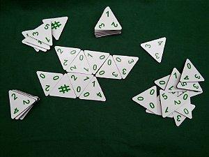 Dominó Triângulo Multifuncional 60 peças MLS01 - Mundo Ludico
