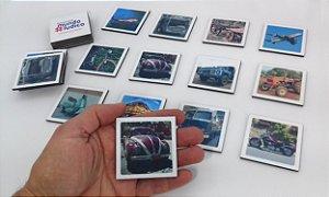 Jogo Memória Sênior Transportes 24 pçs MLM2408 1 jogo 12 atividades Mundo Lúdico