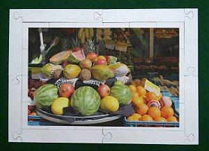 Quebra cabeça Frutas na Quitanda 24 pçs MLQ2418 - 1 Jogo + 4 Atividades