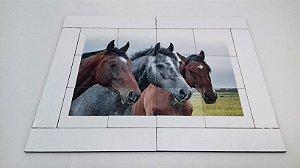 Quebra cabeça Sênior Cavalos 12 pçs Mundo Lúdico