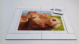 Quebra cabeça Vaca 12 pçs Animais MLQ1219 - 1 Jogo + 4 Atividades