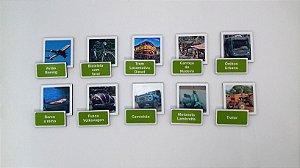 Jogo Memória Sênior Transportes 36 pçs MLM3608 1 jogo 20 atividades Mundo Lúdico