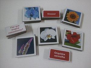 Jogo Memória Flores 36 pçs MLM3605 - 1 Jogo + 20 Atividades
