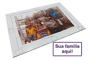 Quebra cabeça Sênior Personalizada Família 24 pçs Mundo Lúdico