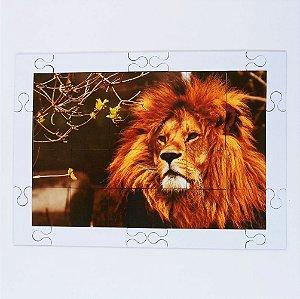 Quebra cabeça Sênior Leão Rei da Selva 24 pçs Mundo Lúdico