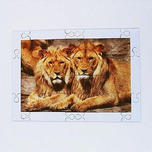 Quebra cabeça Sênior Leões 24 pçs Mundo Lúdico