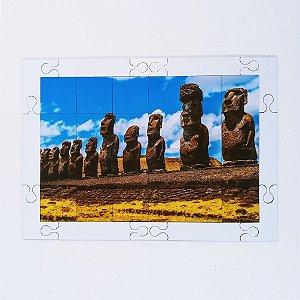 Quebra cabeça Sênior Moais Ilha de Páscoa CH 24 pçs Mundo Lúdico
