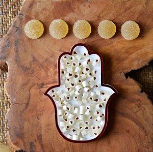 kit kosher - Bala de goma de maça, bala bubblets de mel e suporte de Hamsa @pivoart