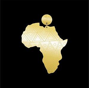 Brinco África Étnica Acrílico