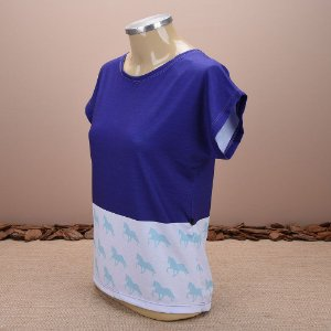 Feminino. Blusa estampada Caballus blue horse CF 006 3024 be3b79fe9d9
