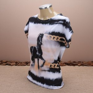 Blusa feminina estampada Letícia Country 3056 f208a9d94fd