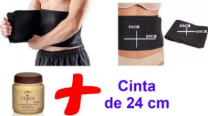 Kit Gel Massageador Redutor + Cinta Modeladora de 24 cm