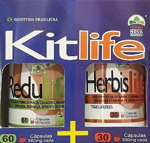 DUPLICADO - Kit Herbis Life Redu Life Emagrecedor em Capsulas