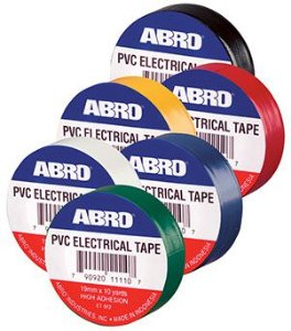 ABRO PVC ELECTRICAL TAPE COLORS - 9,14m cada