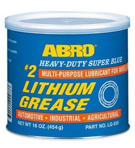 ABRO SUPER BLUE LITHIUM GREASE #2 - 454gr | popular graxa azul