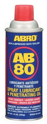 ABRO AB-80 SPRAY LUBRICANT & PENETRATING OIL - 283gr