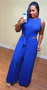 Macacão Dress to Amarração Azul Majorelle