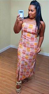 Vestido Dress to Midi Estampa Cactus
