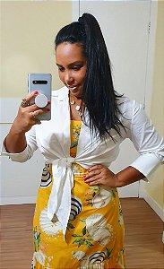 Camisa Dress to Basic Amarração Branco - Exclusiva de multimarca