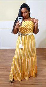 Vestido Dress to Longuete Estampa Listra Solar