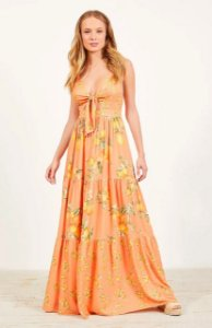 Vestido Dress to Longo Estampa Citrus