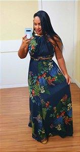 Vestido Dress to Longo Estampa Herbal