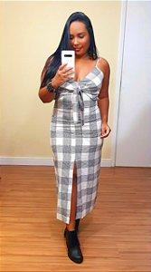 Vestido Dress to Xadrez Amarração