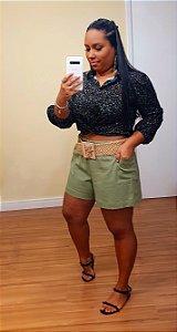 Shorts bolsos verde