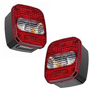 Par Lanternas Traseiras Caminhão Volkswagen Ford LD LE
