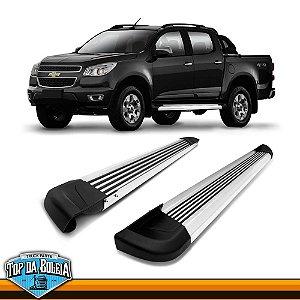 Estribo Lateral Alumínio G2 Polido para Pick-up Chevrolet S-10 Cabine Dupla à Partir de 2012