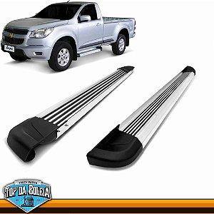 Estribo Lateral Alumínio G2 Polido para Pick-up Chevrolet S-10 Cabine Simples à partir de 2012