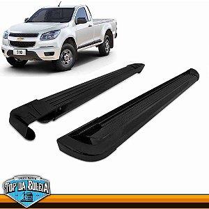 Estribo Lateral Alumínio G2 Preto para Pick-up Chevrolet S-10 Cabine Simples à partir de 2012