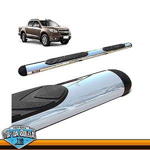 Estribo Lateral Oval Cromado para Pick-up Chevrolet S-10 Cabine Dupla à Partir de 2012