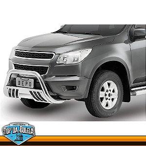 Quebra Mato Universal Com Grade Cromado para Caminhonete Chevrolet S-10 à Partir de 2012