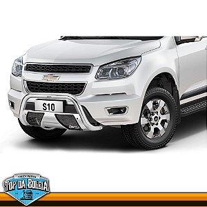 Quebra Mato Universal Com Grade Colmeia Cromado para Caminhonete Chevrolet S-10 à Partir de 2012