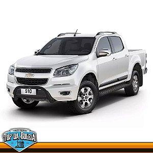 Quebra Mato Universal Elegance com Barra Preto para Chevrolet S-10 à Partir de 2012