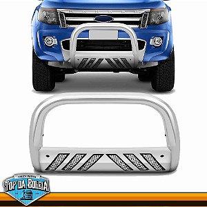 Quebra Mato Universal Com Grade Cromado para Caminhonete Ford Ranger à Partir de 2013